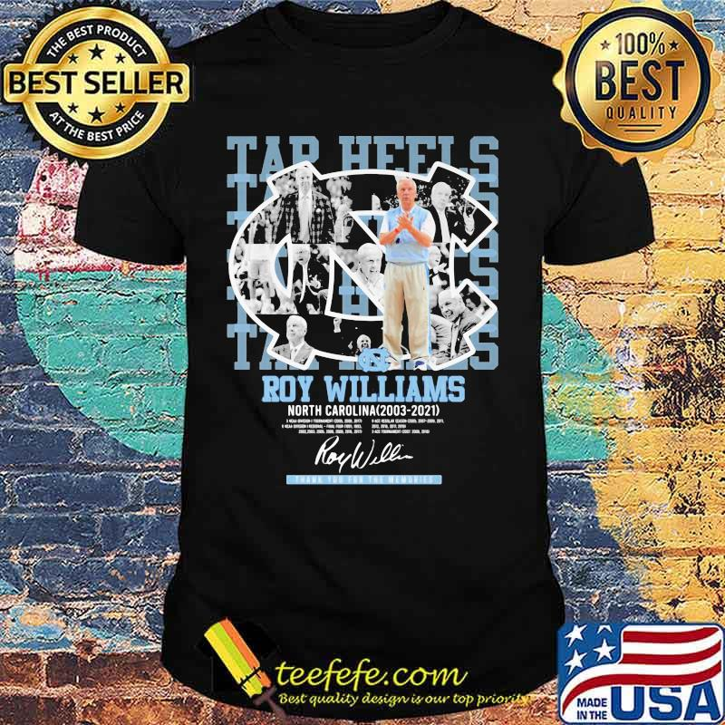 Roy Williams North Carolina Tar Heels Thank You For The Memories Shirt