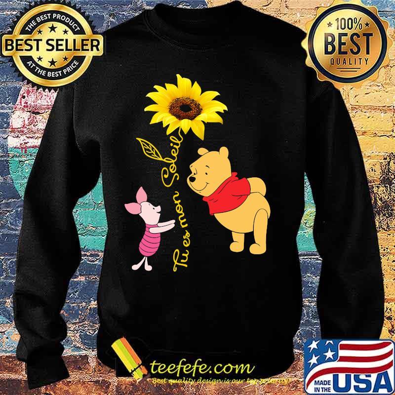 Tu Es Mon Soleil Pooh And Piglet Sunflower Shirt Sweater