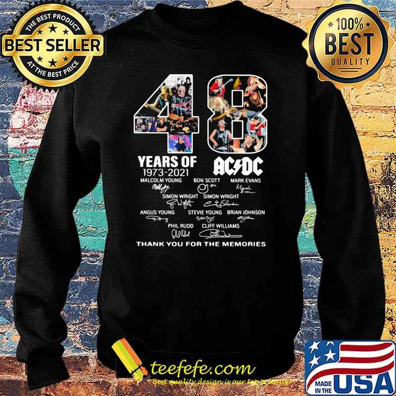 48 years of 1973 2021 AC DC Thank you for the memories signature Sweater