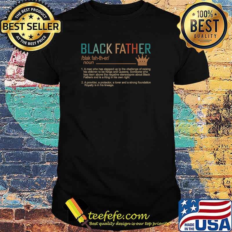 Black Father Definition Vintage Shirt