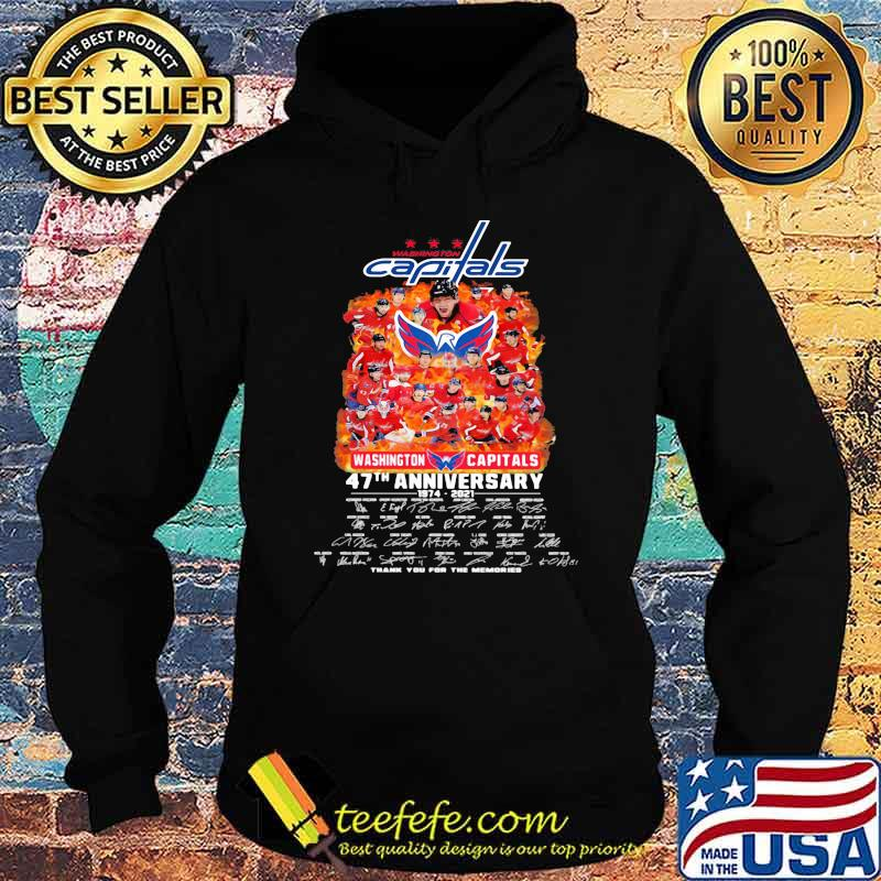Capitals washington 47th anniversary 1974 2021 thank you for the memories signature Hoodie