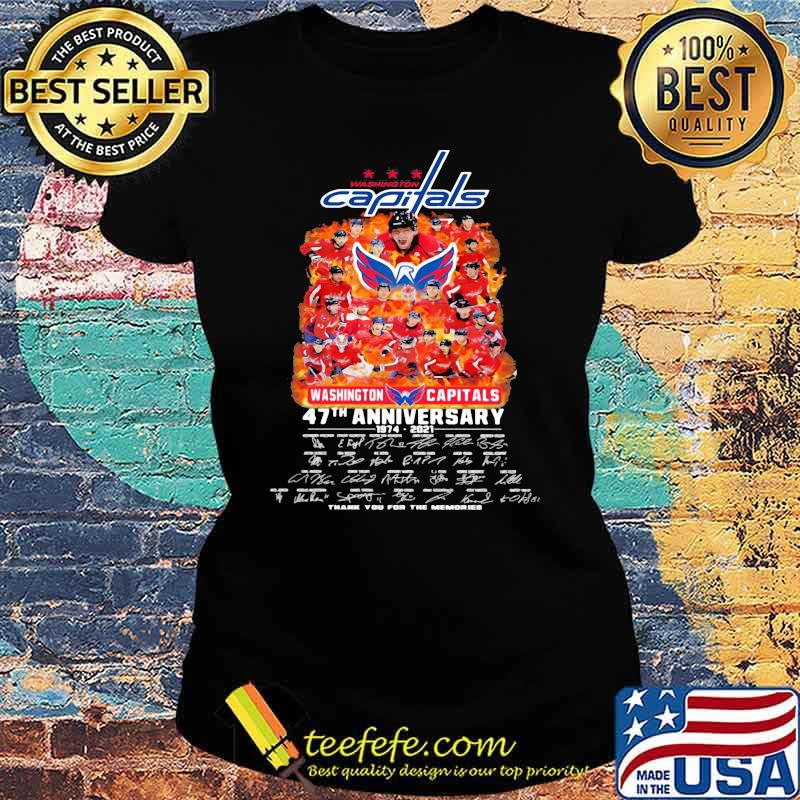 Capitals washington 47th anniversary 1974 2021 thank you for the memories signature Ladies tee