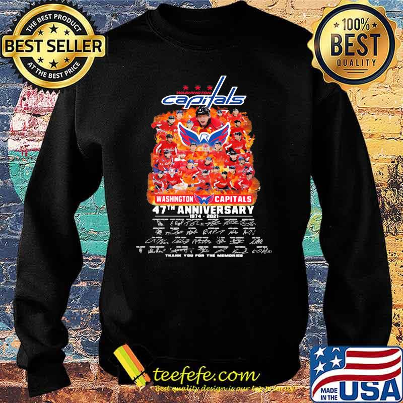 Capitals washington 47th anniversary 1974 2021 thank you for the memories signature Sweater