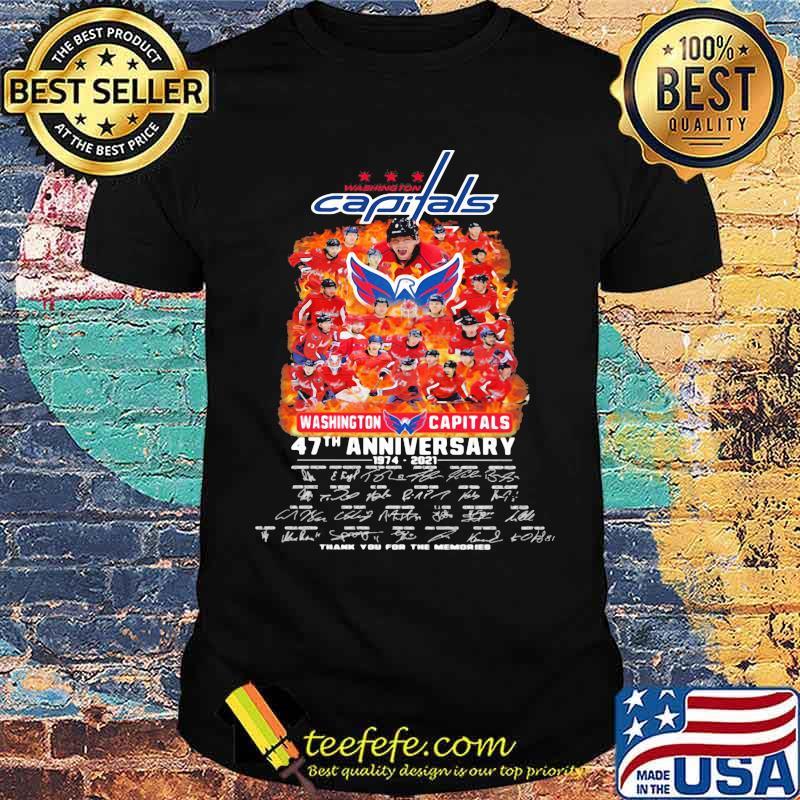 Capitals washington 47th anniversary 1974 2021 thank you for the memories signature shirt