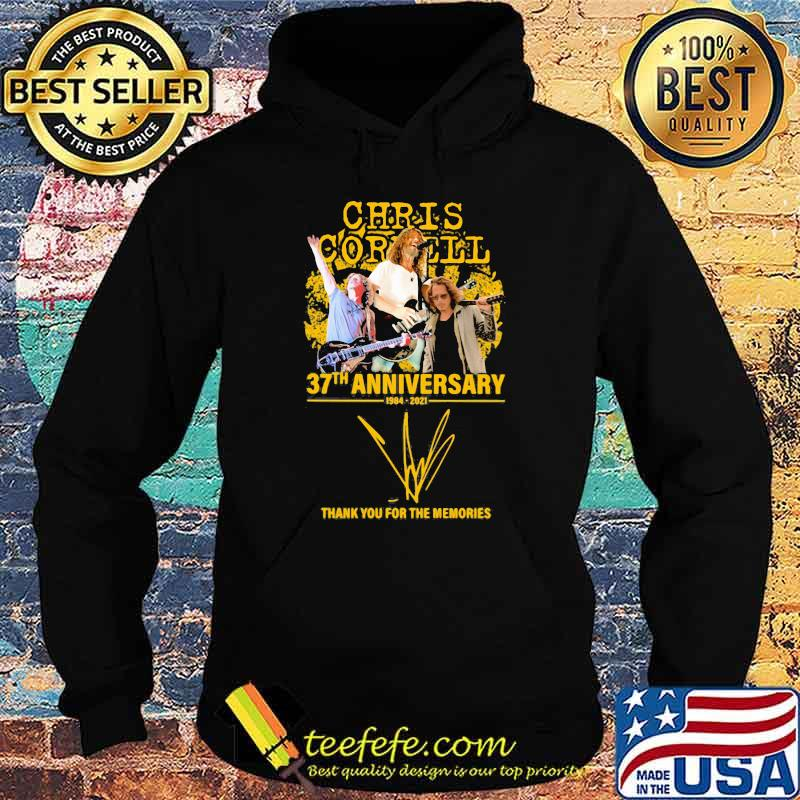 Chris Cornell 37th anniversary 1984 2021 thank you for the memories signature Hoodie