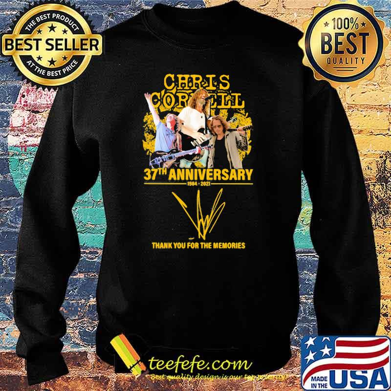 Chris Cornell 37th anniversary 1984 2021 thank you for the memories signature Sweater