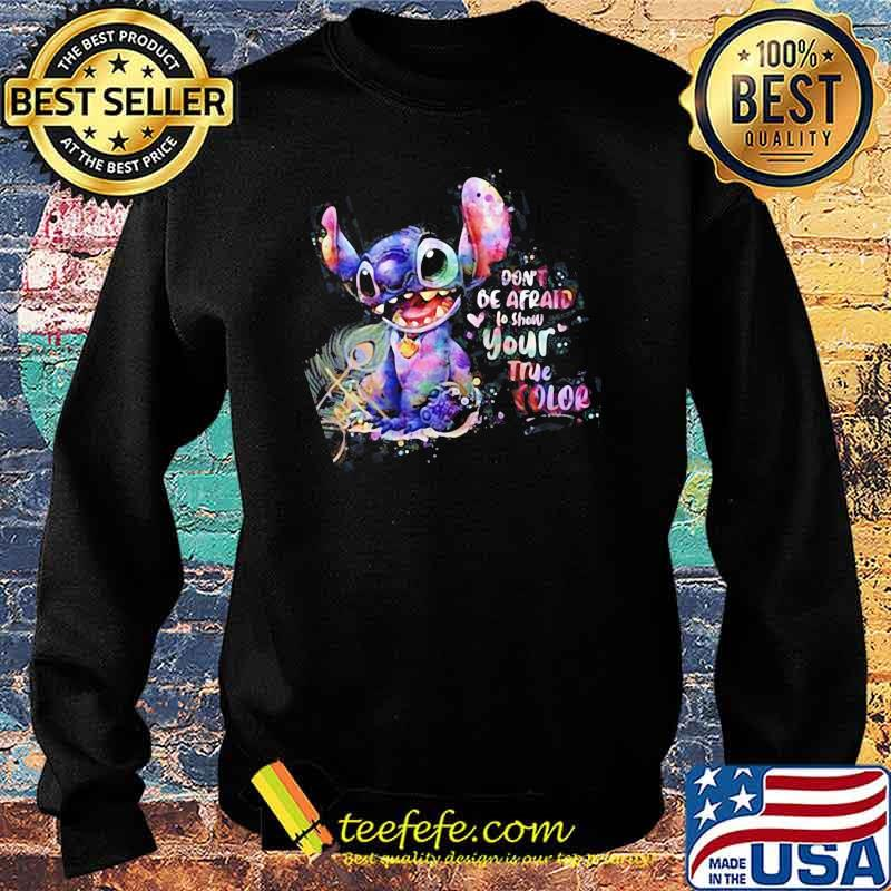 Don't Be afraid to show your true color stitch Sweater