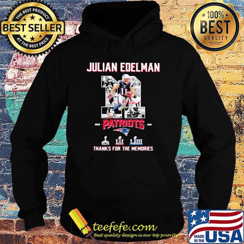 Julian Edelman Patriots Thanks For The memories 2009 2021 Signature Shirt Hoodie