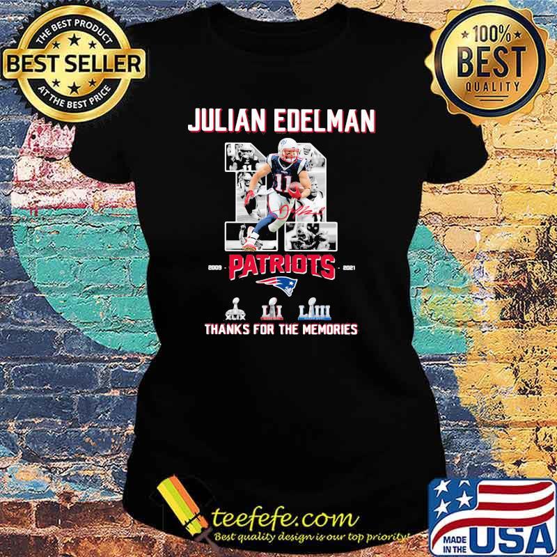 Julian Edelman Patriots Thanks For The memories 2009 2021 Signature Shirt Ladies tee