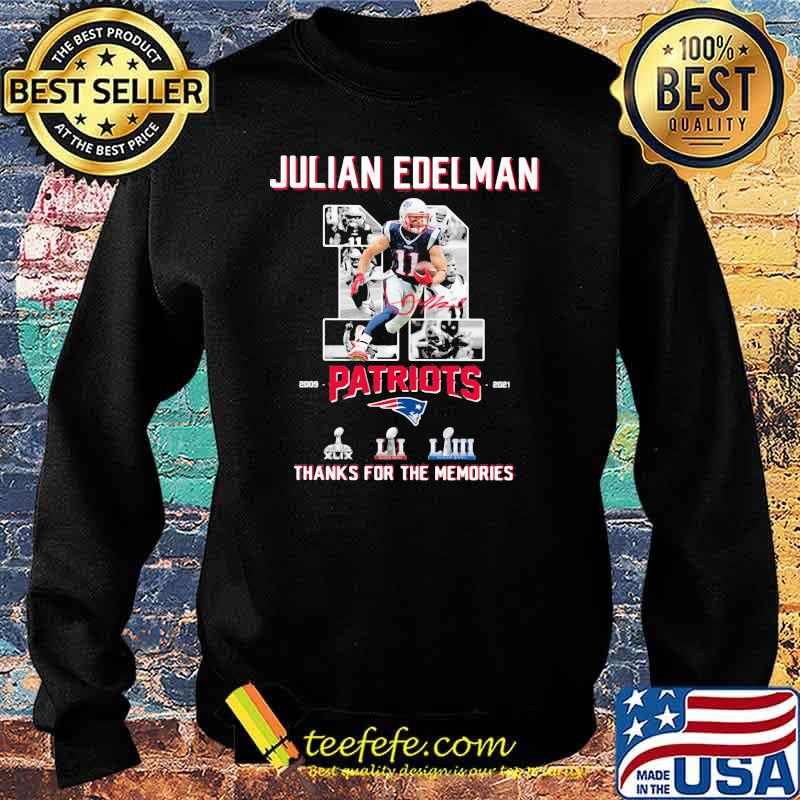 Julian Edelman Patriots Thanks For The memories 2009 2021 Signature Shirt Sweater