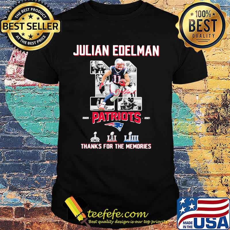 Julian Edelman Patriots Thanks For The memories 2009 2021 Signature Shirt