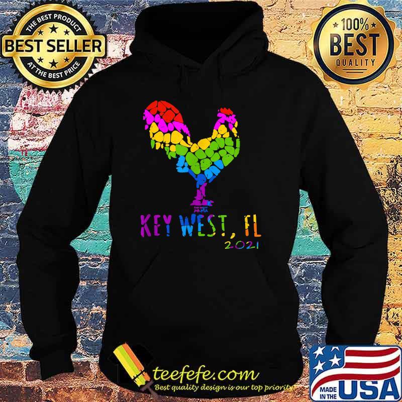 Key West FL 2021 Rooster Chicken Lgbt Shirt Hoodie