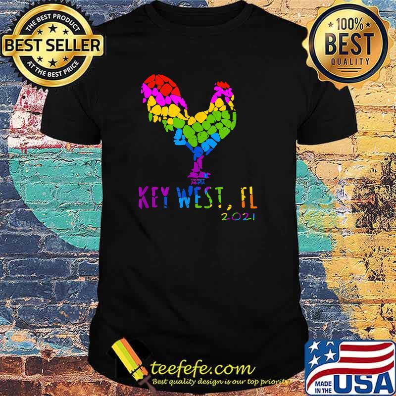 Key West FL 2021 Rooster Chicken Lgbt Shirt
