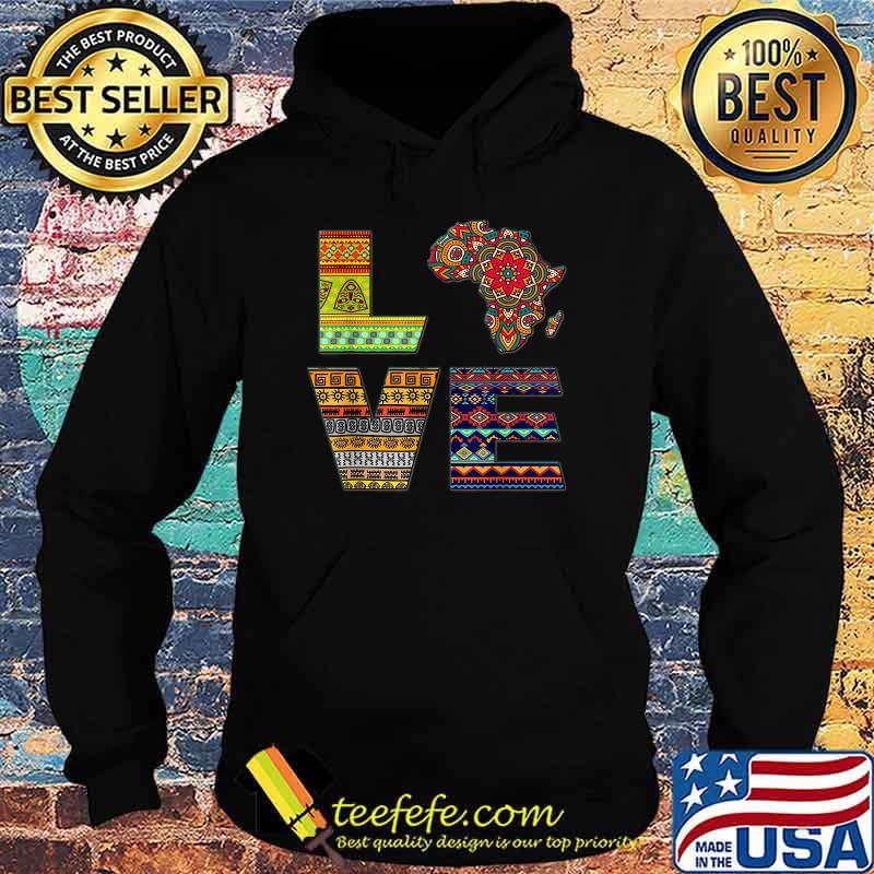 Love Africa African Kente Shirt Hoodie