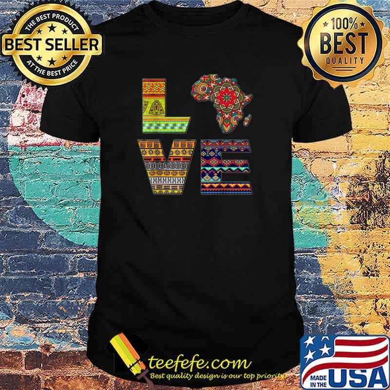Love Africa African Kente Shirt