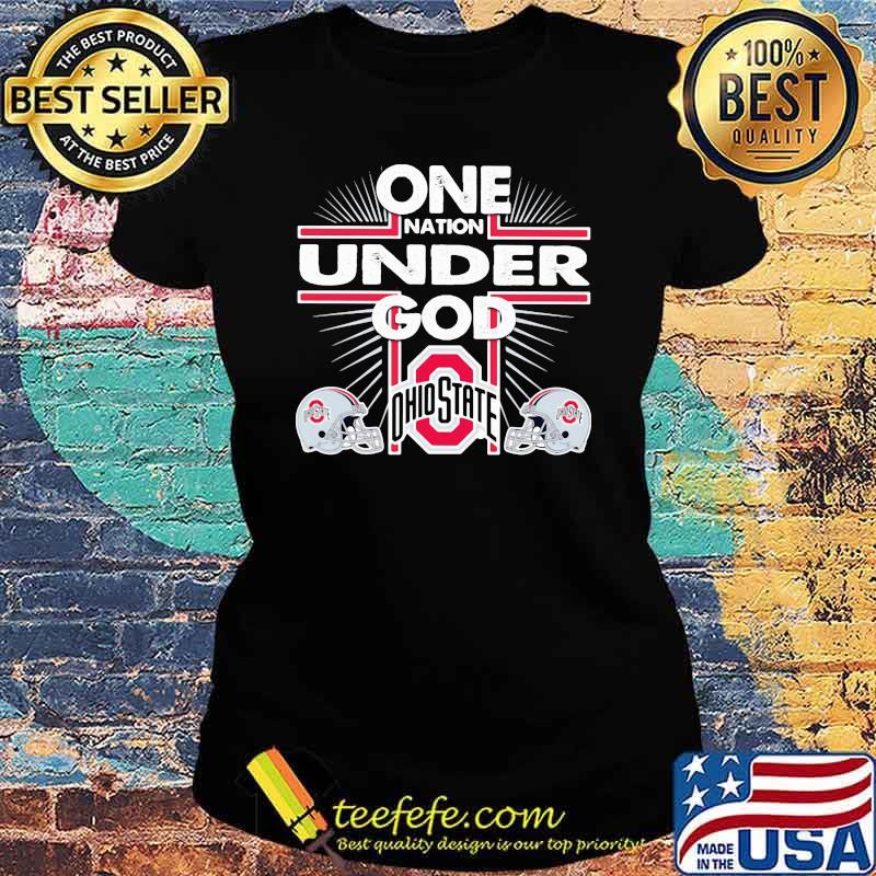 One nation under god ohio state Ladies tee