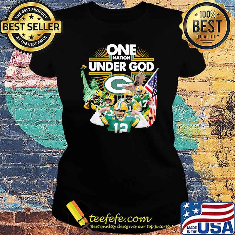 One Under God Green Bay Packers Shirt Ladies tee