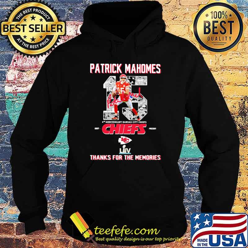 Patrick Mahomes 4th Anniversary Kansas city chiefs Thanks for the Memories Hoodie