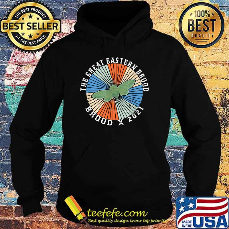 The Great Eastern Brood X 2021 Meme Periodical Cicada Insect Invasion Shirt Hoodie