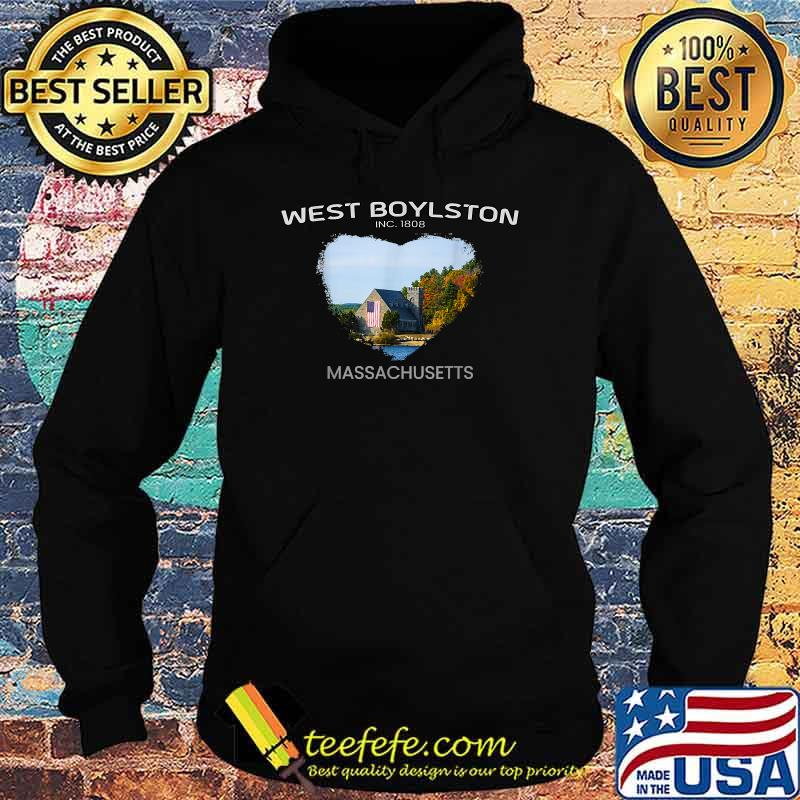 West Boylston MA MASSACHUSETTS Old Stone Church Foliage Shirt Hoodie