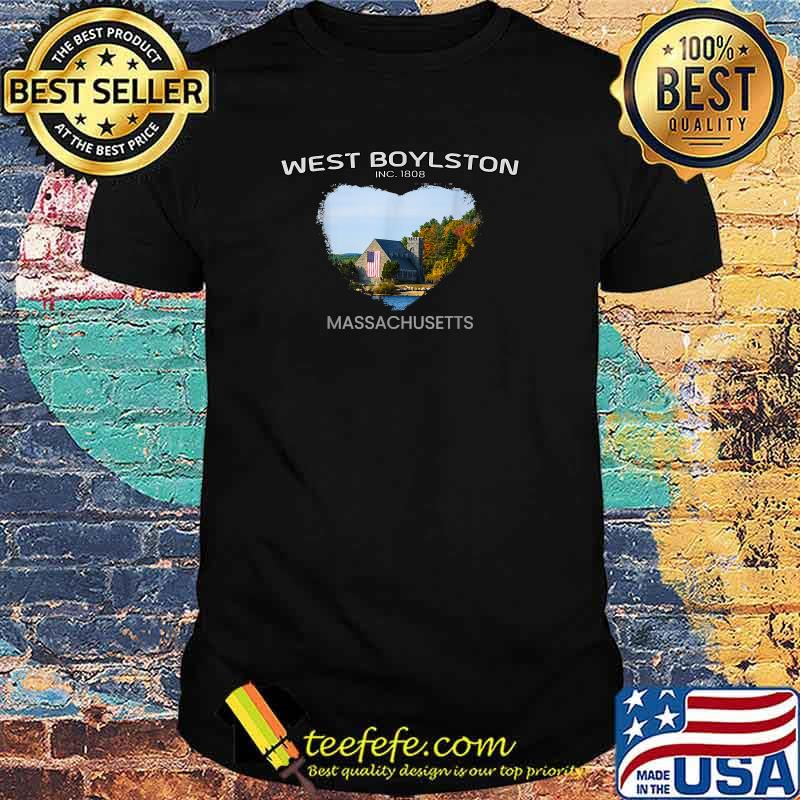 West Boylston MA MASSACHUSETTS Old Stone Church Foliage Shirt