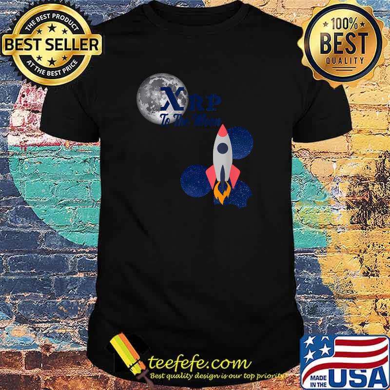 XRP To The Moon Ripple Moon Hodl Blockchain Crypto Shirt